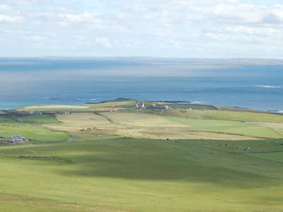 The West Manse headland seen from Fitty hill