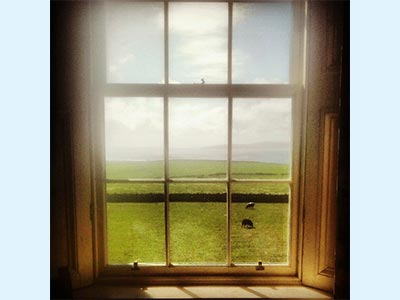 Looking South from drawing room towards Rousay