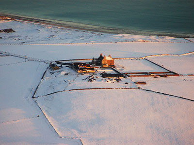 Aerial view of the West Manse and Brotchie - Winter 2011